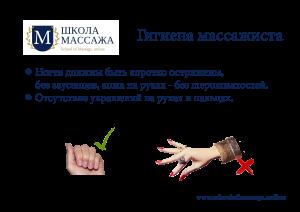 Гигиена массажиста
